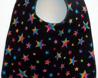Baby Bib  Rainbow Stars