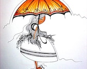 It might rain 14x17 Original