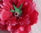 Fusia Pink Sparrow Flower Hair Clip
