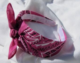 Bandana Knot Headband (DARK PINK)