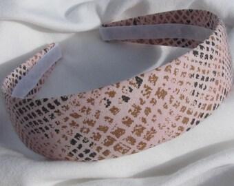 Pink Snake Print Headband Hair Band