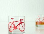 2 bicycle rocks glasses, red bike - vital