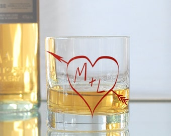 True love glasses - the perfect custom wedding gift - custom rocks glasses
