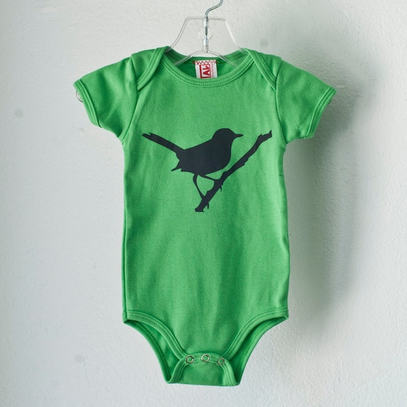 SALE - Wren, Infant one piece, grass green, size 18-24 mo