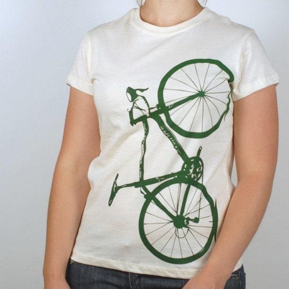 last Medium - Vital Bicycle - women's organic cotton tee, natural