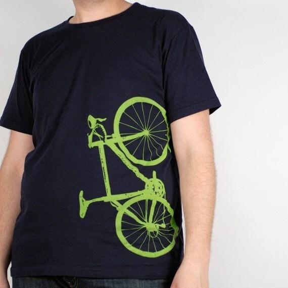 XL - Vital Bicycle - organic cotton tee, navy