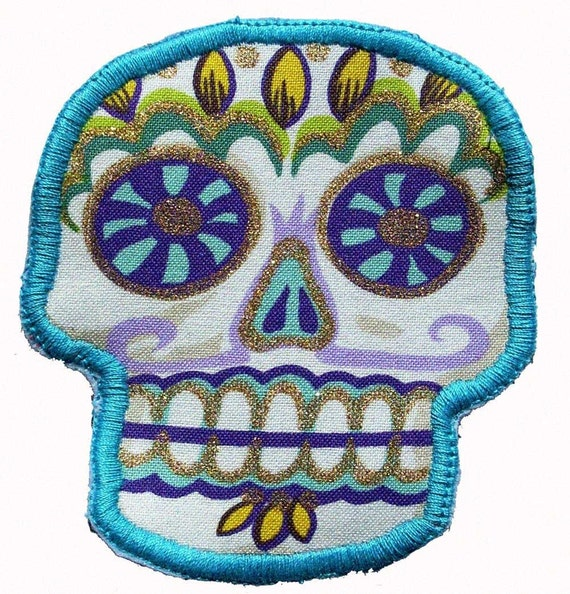Custom Mexican Sugar Skull Patch