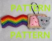 PDF CROCHET PATTERN - Nyan Cat Ornament