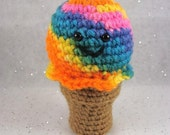 PDF CROCHET PATTERN - Happy Happy Ice Cream Cone Amigurumi