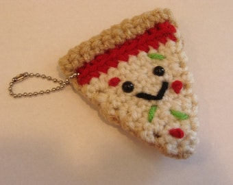 Pizza Slice Mini Plush Keychain
