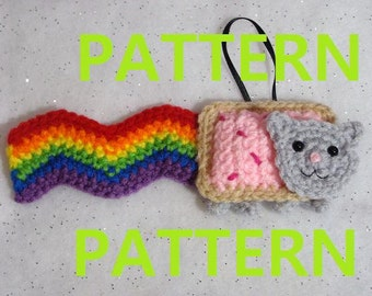 PDF CROCHET PATTERN - Nyan Cat Ornament