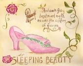 Sleeping Beauty 8x10 fairy tale print