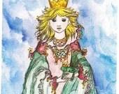 The Frog Princess original painting