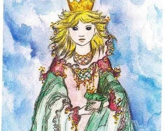 The Frog Princess original painting