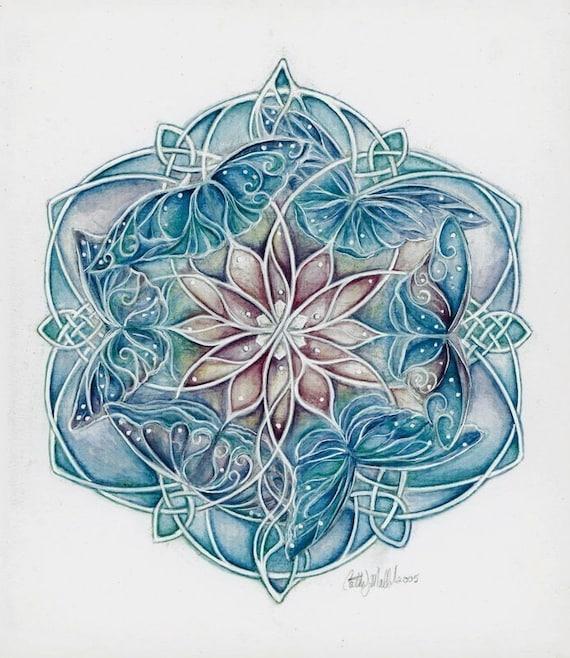 Spring Mandala - Print of Butterfly Mandala