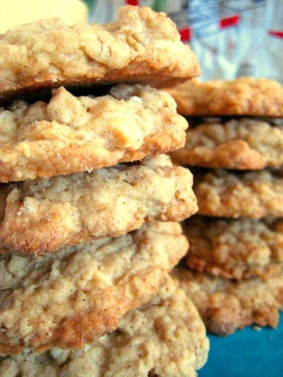 WHITE CHOCOLATE CHIP OATMEAL Gourmet Cookies by busybaker on Etsy