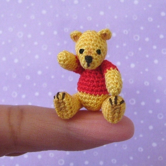 Micro Amigurumi Animal Patterns : PDF PATTERN Amigurumi Crochet Tutorial Pattern Thread Pooh
