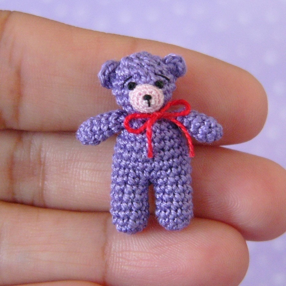 Free Crochet Mini Teddy Bear Pattern : PDF PATTERN Amigurumi Crochet Tutorial Pattern Miniature
