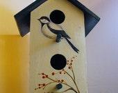 Handpainted Bird House OFG50Club