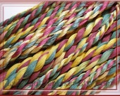 Country CHRISTMAS    Size 50   hand dyed TATTING crochet embroidery CQ cotton thread   6 cord