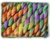 WITCHES BREW    Size 100    hand dyed TATTING crochet embroidery CQ cotton thread    6 cord