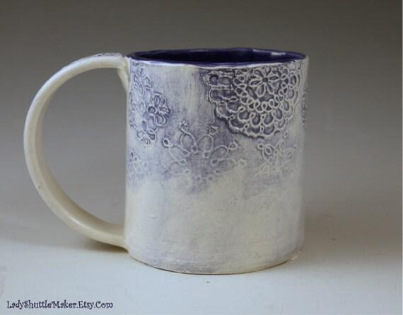 Ceramic Mug With Tatting Designs