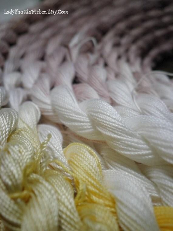 MAGNOLIA size 20 varigated hand dyed tatting crochet thread  40 yrd skein 100 percent SILK