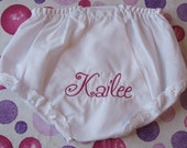 TEN PERCENT OFF STOREWIDE SALE   Monogrammed Baby Bloomers CHOOSE YOUR FONT and THREAD COLOR