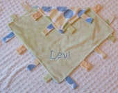 Minky Personalized Tag\/loop blanket