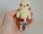 Mini Chickenpants Keychain - Regretsy Fabric