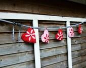 Felt  Ladybug Heart Banner