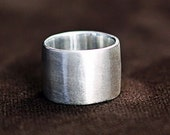 Wedding Band - Wide Ring - Handmade Ring Sterling Silver