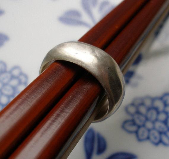 Custom Ring Reserved for Elizabeth - Organic Wedding Band Sterling Silver Ring
