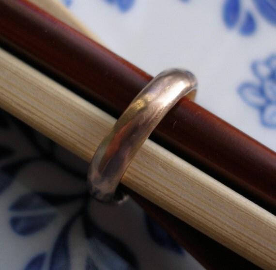 Wedding Ring - Custom ring reserved for Seth - 10k Rose Gold Organic Ring