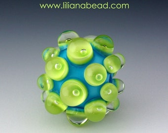 Aqua Berry Extraordinaire with Lime Green Seeds