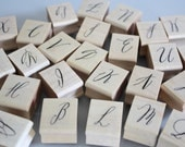 rubber stamp, calligraphy letter