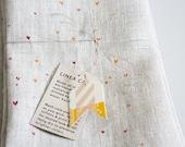 napkins, tiny hearts (set of 2)