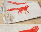 red fox napkins, set of 2