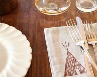 napkin, teepee (set of 2)