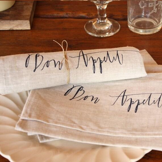 napkin, bon appetit