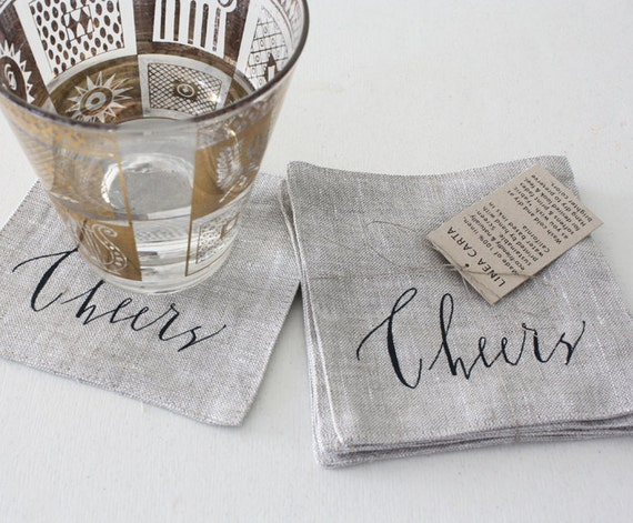 coaster, cheers - set of 4