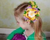 DIY Twisted boutique hair bow instructions patterns tutorial pdf ebook Instant Download