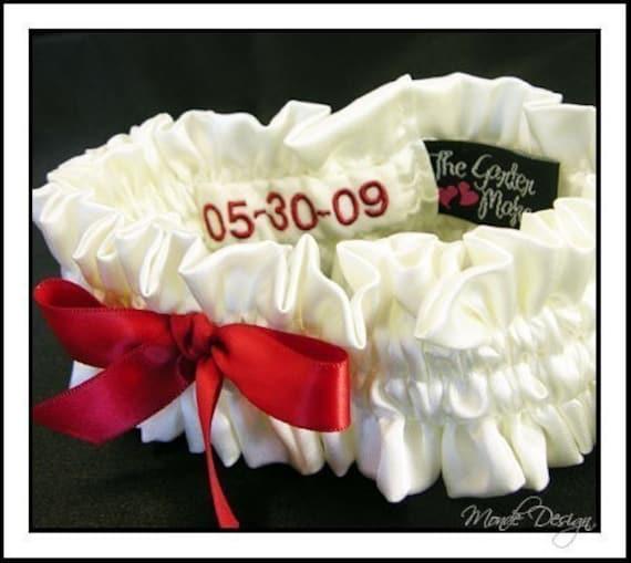 Custom simple garter with date patch inside