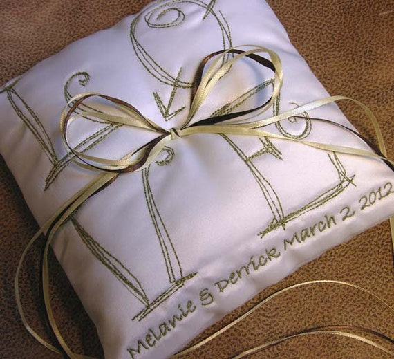 Wedding Ring Pillow Cute LOVE pillow with custom colors and details