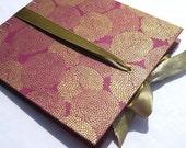 Magenta Golden Mums Medium Guest Book - Made to oder