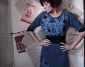 Spicy Toast Miss Vera Dress clocks and cornflower blue