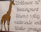 PATTERN ONLY Mothers of Teenagers Stitch