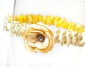 Yellow Garter - Destination Wedding Garter, Sunshine Yellow, Soft Yellow Wedding Garter