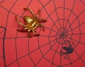 Huge Brass Spider, Halloween Stamping, Bug Supply, Insect Jewelry Stamping  x 1