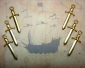 Pirate Sword Medieval Brass Jewelry Charms/Craft on Etsy x6